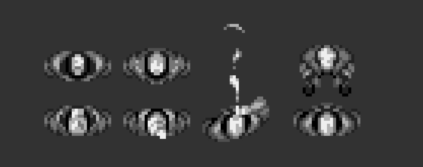 Скетчи персонажей в пикселях