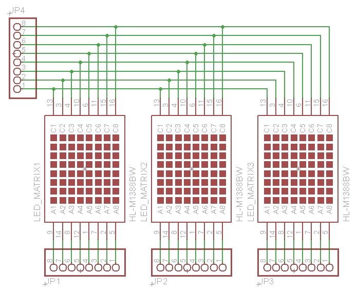Схема соединения матриц