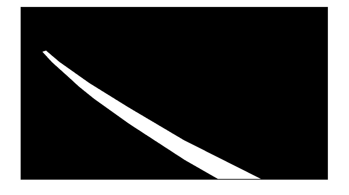 Рис. 4 Созданная маска интересующего участка дороги