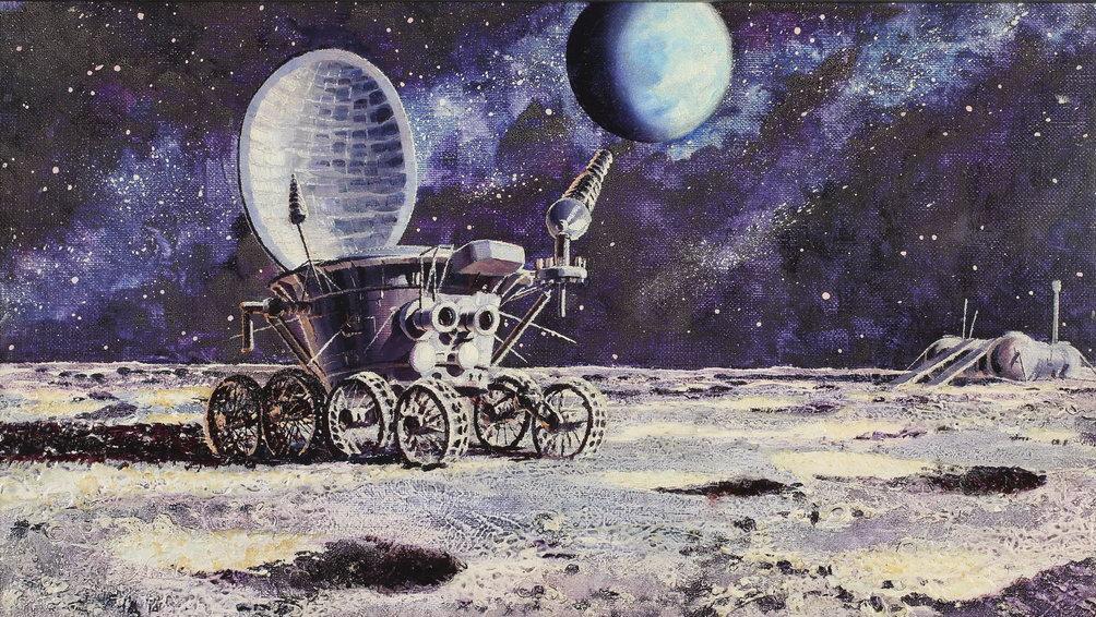Луноход-1 бороздит просторы Моря Дождей