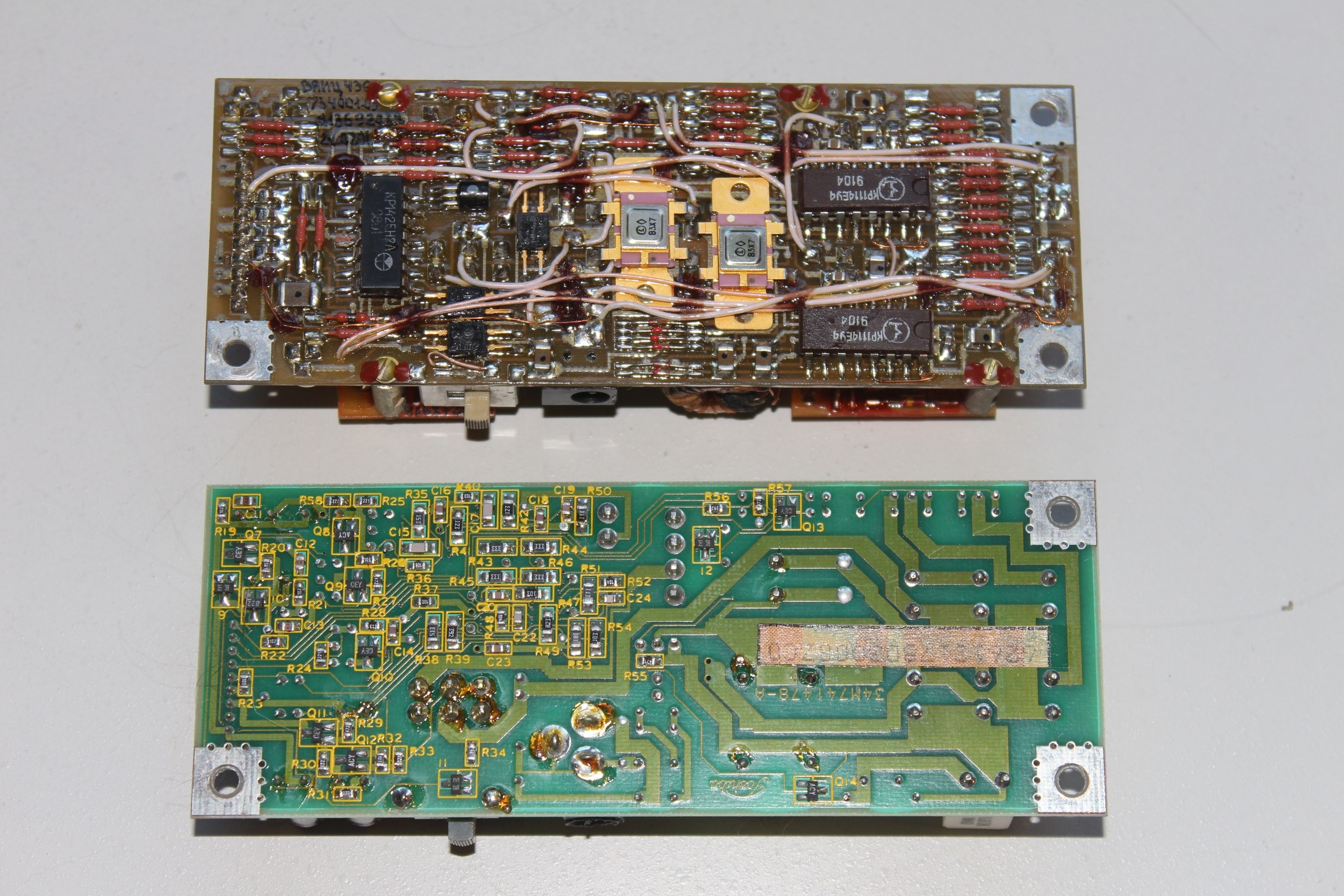 Модули стабилизатора Электроники и Тошибы - вид снизу