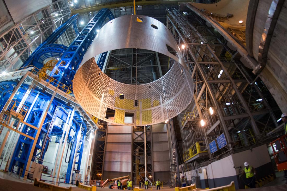 Элемент топливного бака ракеты SLS. Фото NASA
