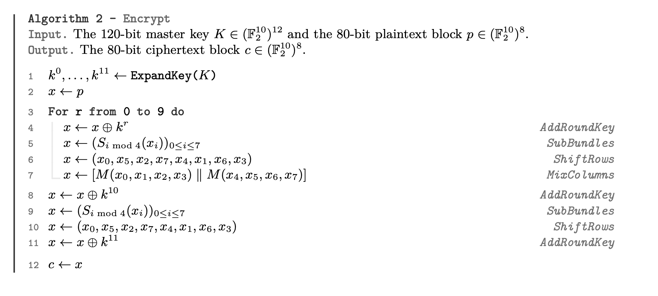 Алгоритм шифрования