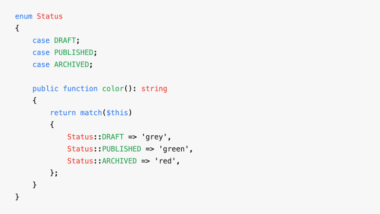 [Перевод] Перечисления в PHP 8.1