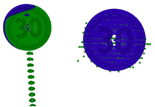 Рис 18. Результат наложение образца на облако методом ICP.