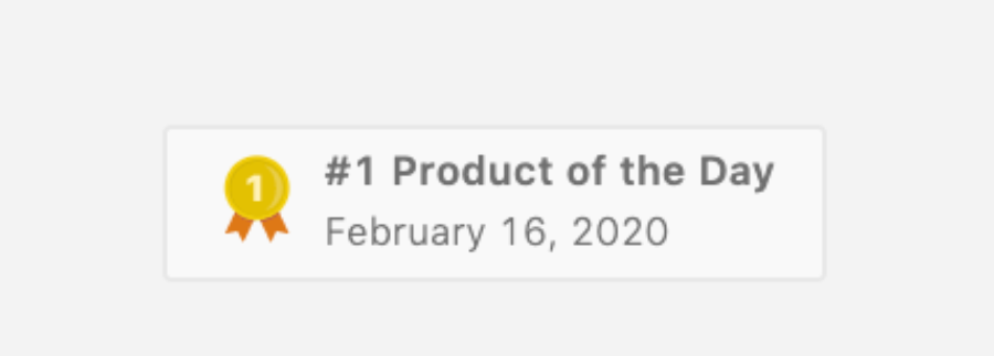 Вспомните, что за день был 16 февраля? Я помню – мы тогда с одним из проектов заняли первое место на Product Hunt, а еще это было воскресенье.