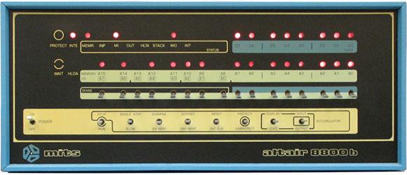 Фронтальная панель Altair 8800