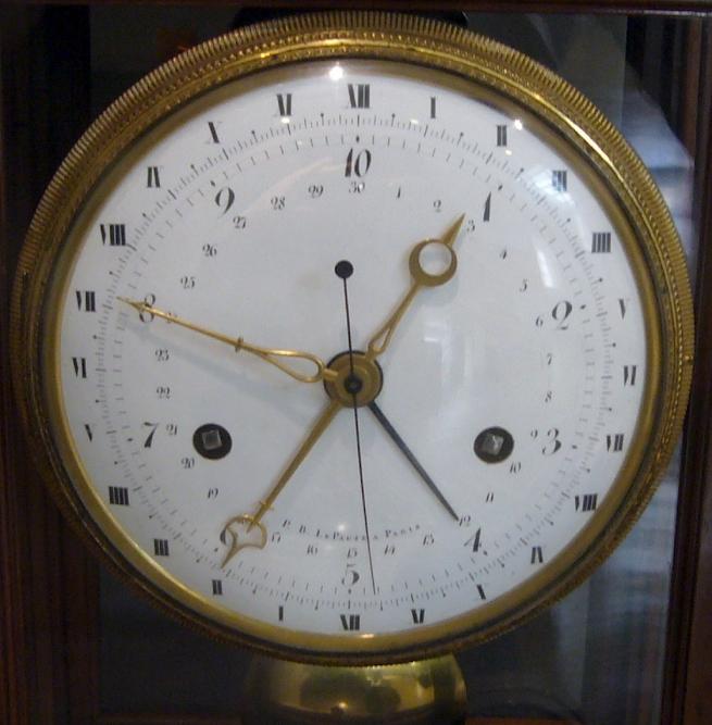 Десятичные часы времен Первой Республики