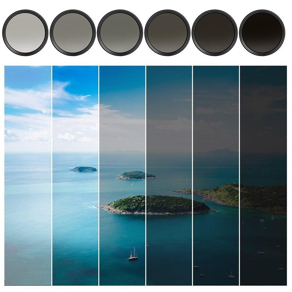 Степень понижения яркости изображения в зависимости от предустановленного ND-фильтра