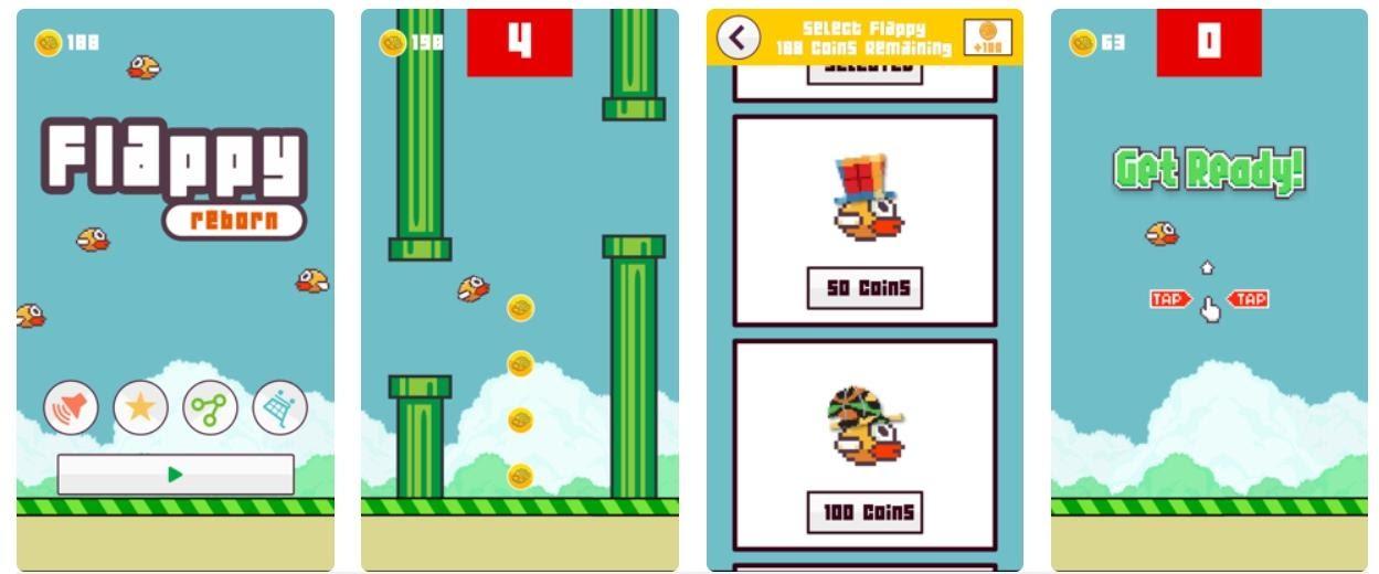 Скриншоты из игры Flappy Bird в App Store