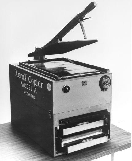 Изображение №4. Первый копировальный аппарат Xerox Model A
