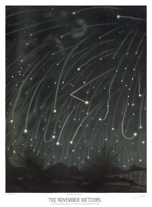 Автор Этьен Трувело (Etienne Leopold Trouvelot), книга The Trouvelot astronomical drawings manual, год публикации 1882