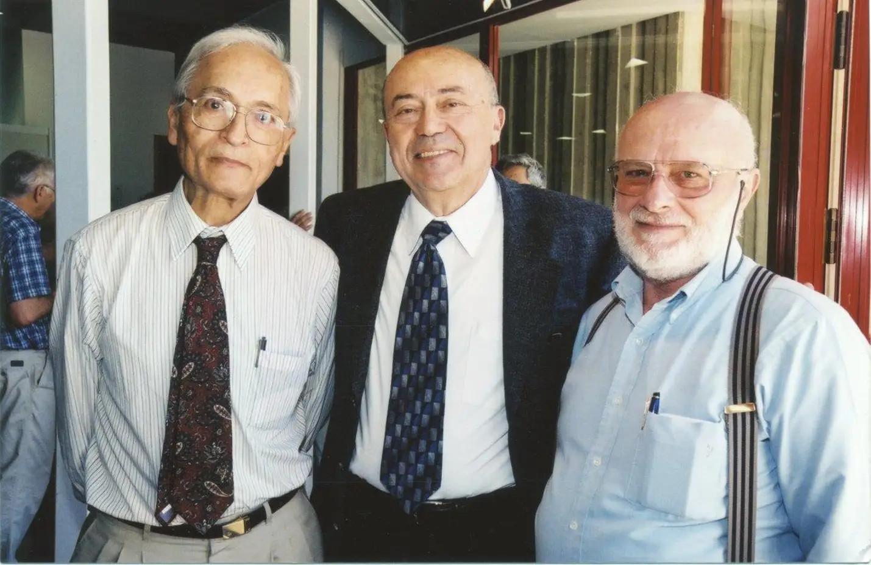 Слева направо: Яаков Зив, основатель Qualcomm Эндрю Витерби и Абрахам Лемпель