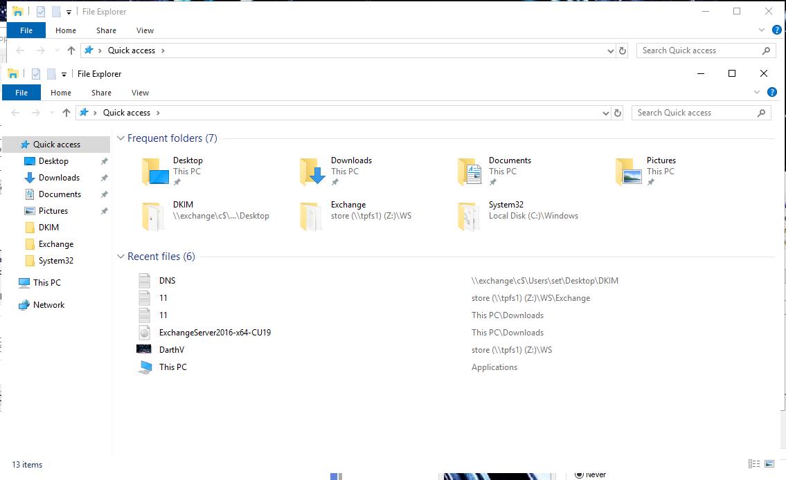 Рамка (граница) окон в windows 10 и server 2016