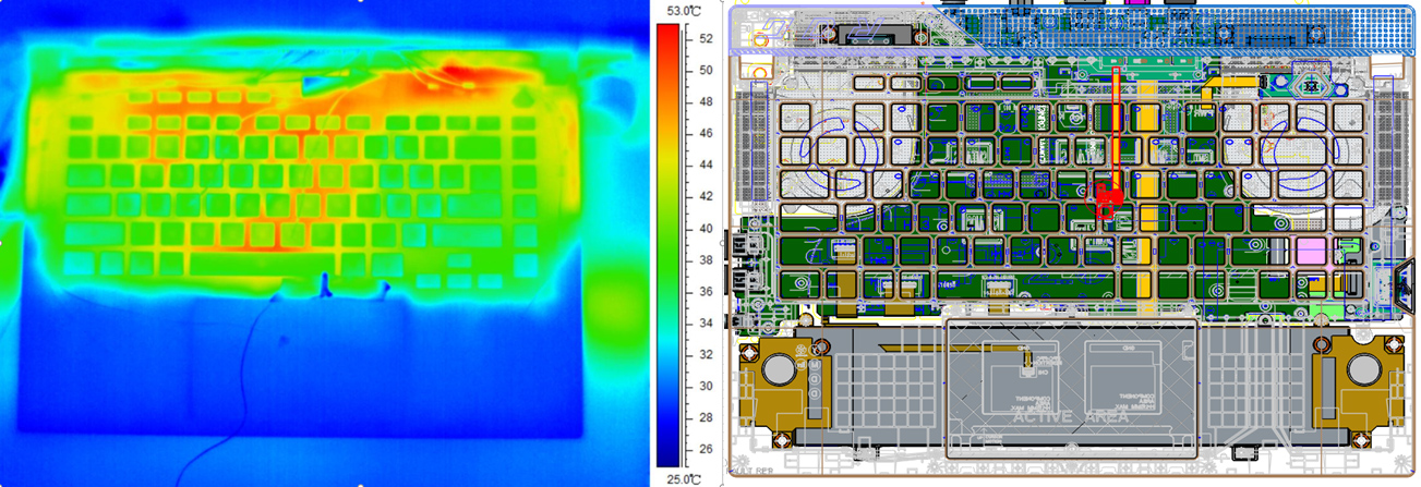 Распределение тепла ROG Strix G15 Advantage Edition