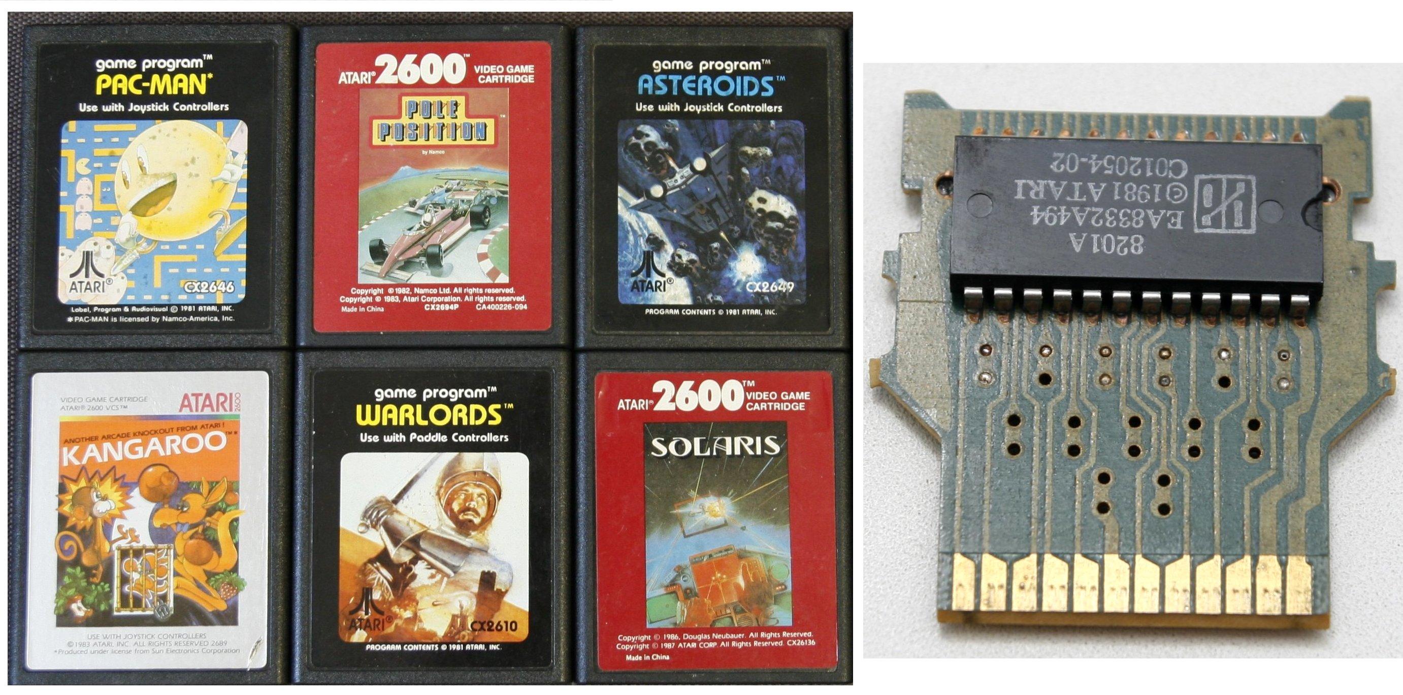 Картриджи Atari. Фото: Software & Computer Museum