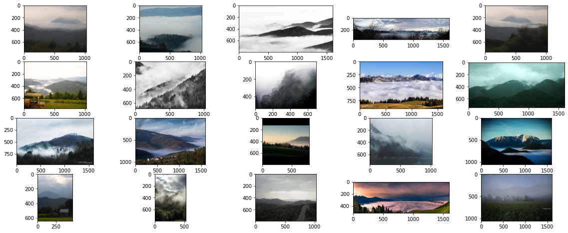 """""""a picture of a fog near the mountains"""""""