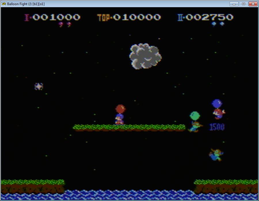 Balloon fight, лицензионная NES версия