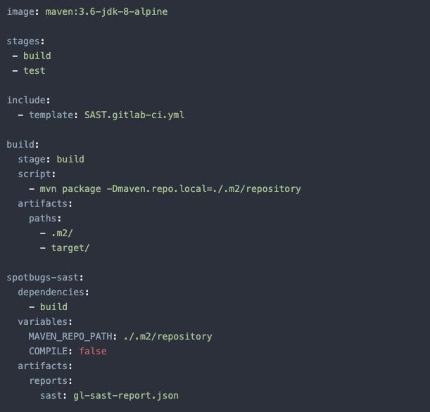 Пример встраивания SAST в пайплайн GitLab.