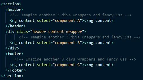 Компонент-шаблон, который группирует типовой код оберток наряду со стилем и не обладает логикой.