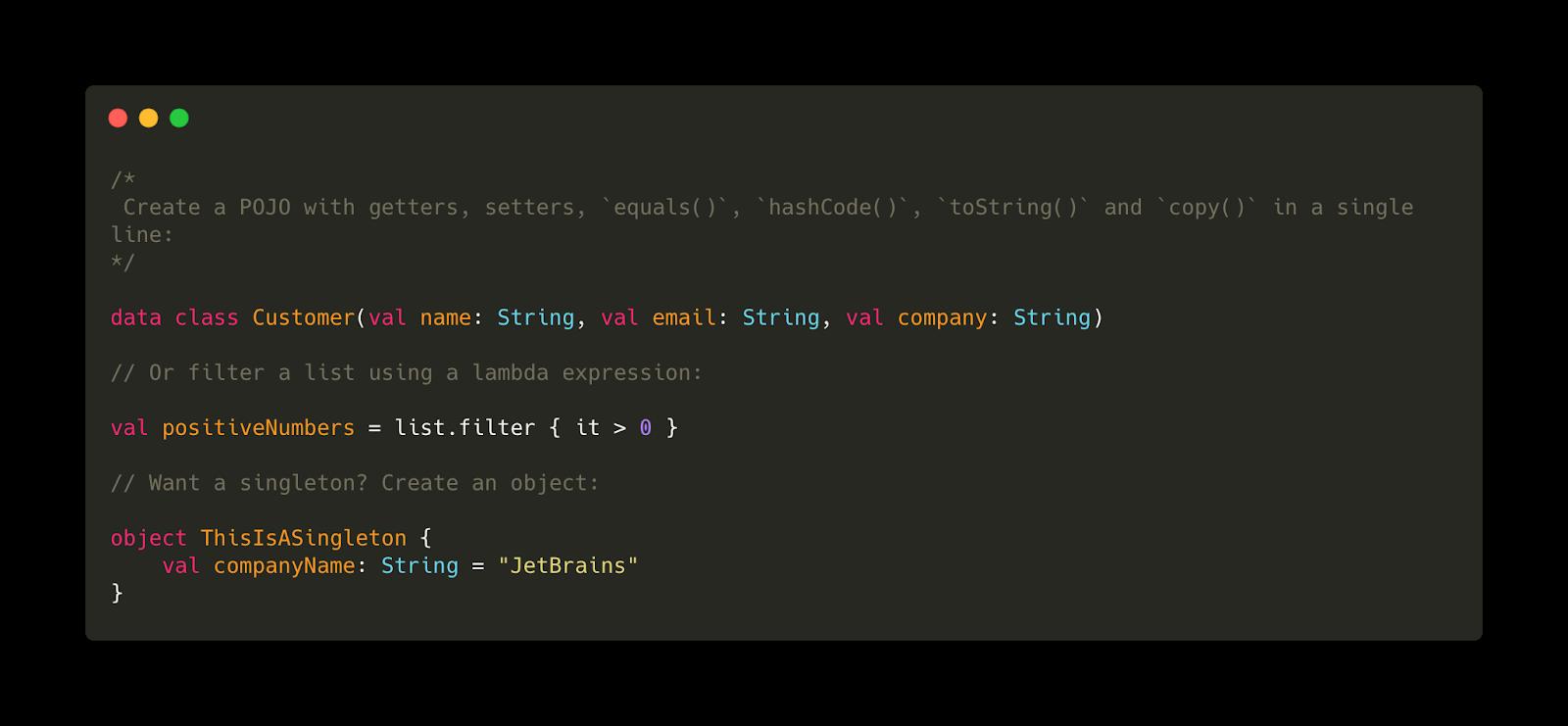 Пример типичной операции на Kotlin