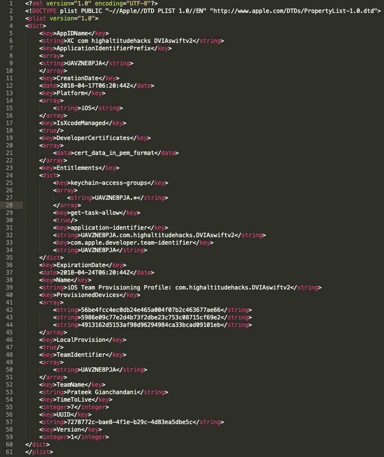 Содержимое файла embedded.mobileprovision