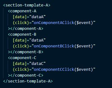 Страница или «умный» компонент на основе компонента-шаблона. В нем нет стилей, но он управляет логикой.