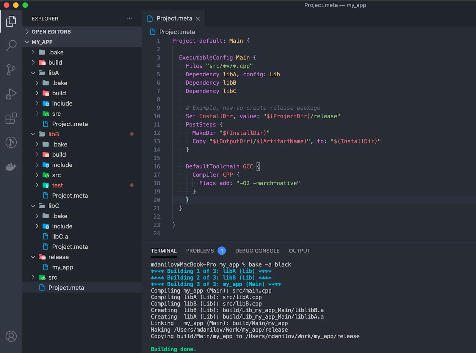 Пример структуры проекта для приложения my_app