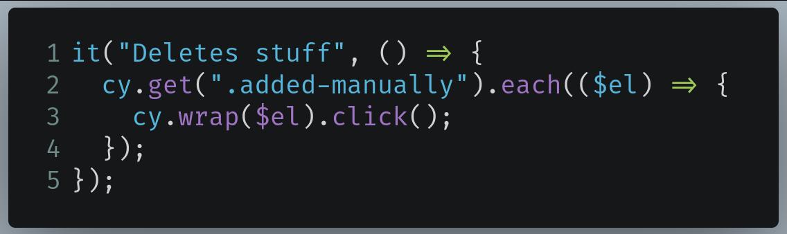Код для runningClickCommand.js