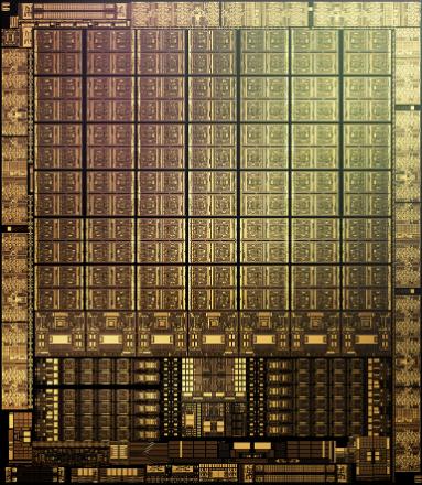 Снимок кристалла Nvidia GA102