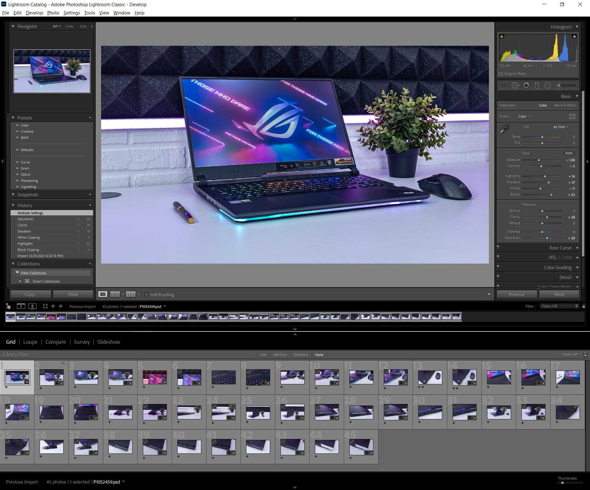 Adobe Lightroom Classic на двух экранах