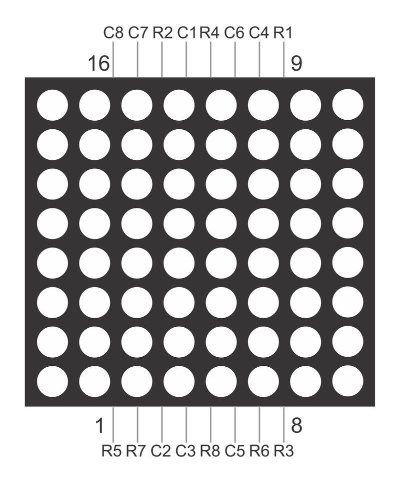 Recovery mode Подключение светодиодной матрицы 8x8 к arduino