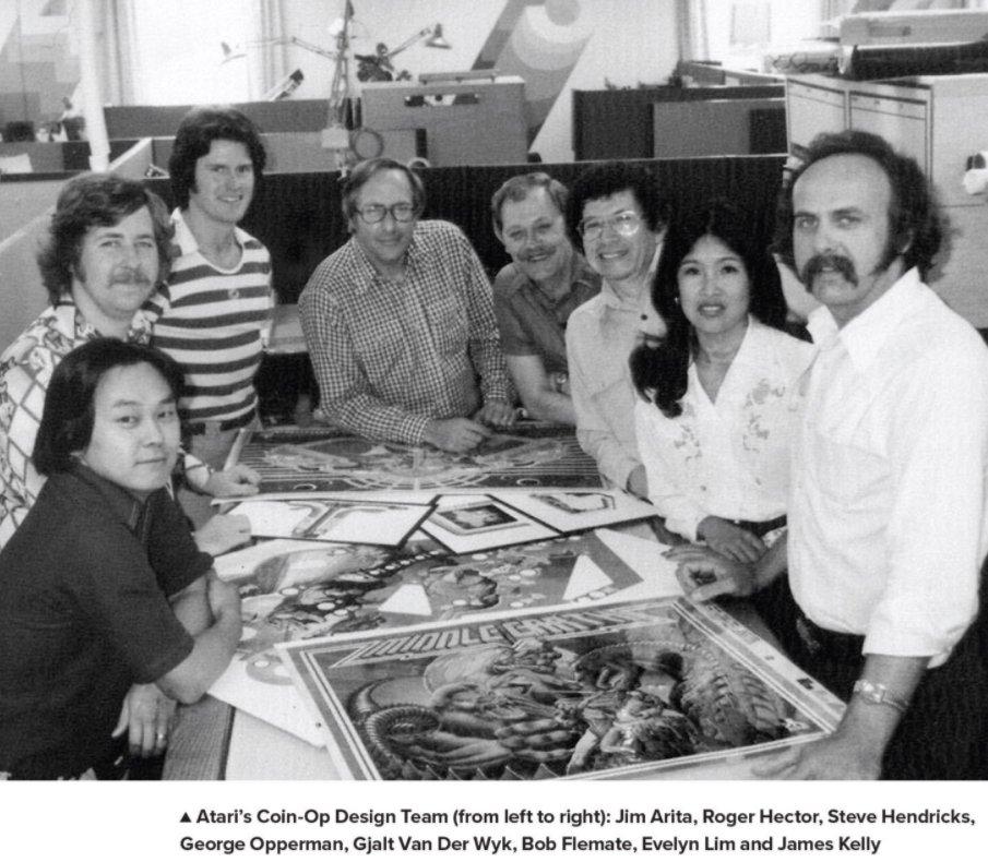 Команда дизайнеров игровых автоматов. Фото: Art of Atari, Tim Lapetino, PDF edition