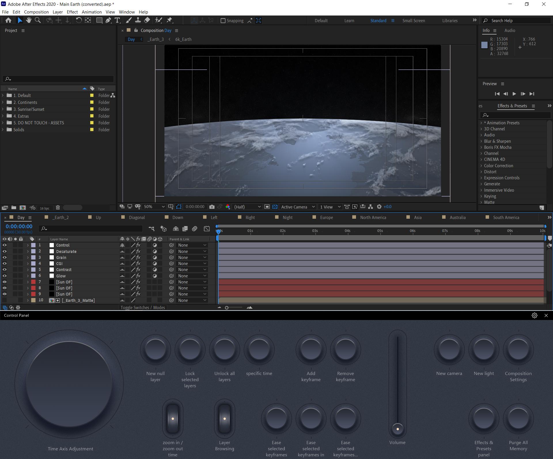 Пример использования с Adobe After Effects