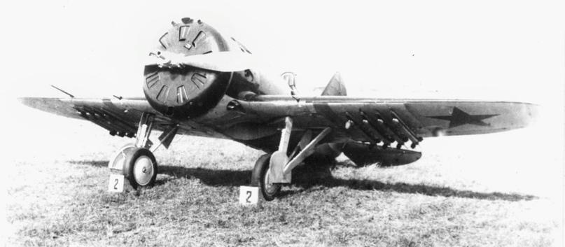 И-16 с РС-82 на Халхин-Голе