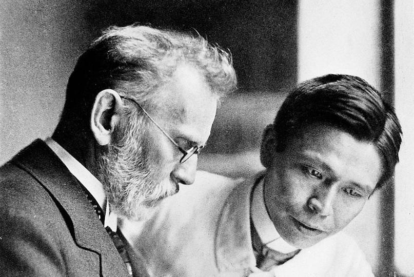 Пауль Эрлих и Сахачиро Хата, создатели химиотерапии