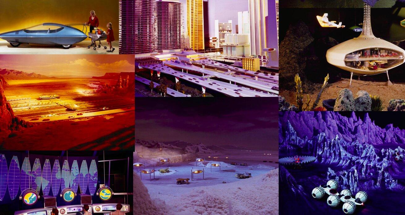 Чудеса Всемирной выставки: футуристические автомобили, города будущего, подводные, арктические и космические колонии.