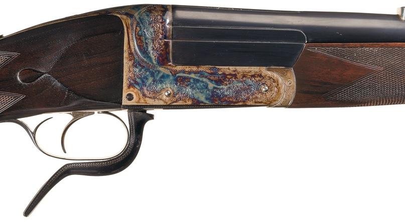 Одноствольная винтовка под патрон .600 Nitro Express производства W. J. Jeffrey. Затвор крупным планом
