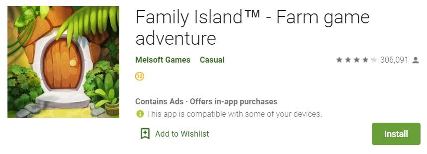 Скриншот игры Family Island в Google Play
