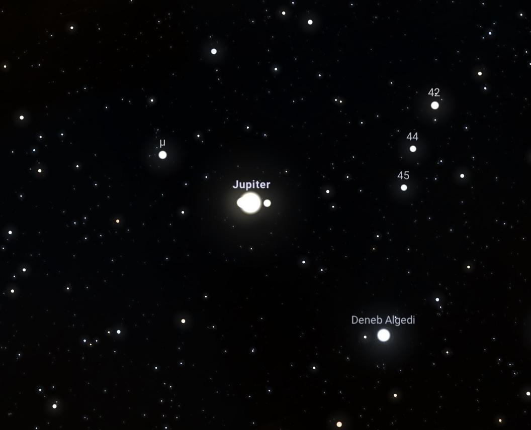 """Stellarium (44° 43' 35"""" / 34° 0' 45""""/ 21:59 по МСК)"""