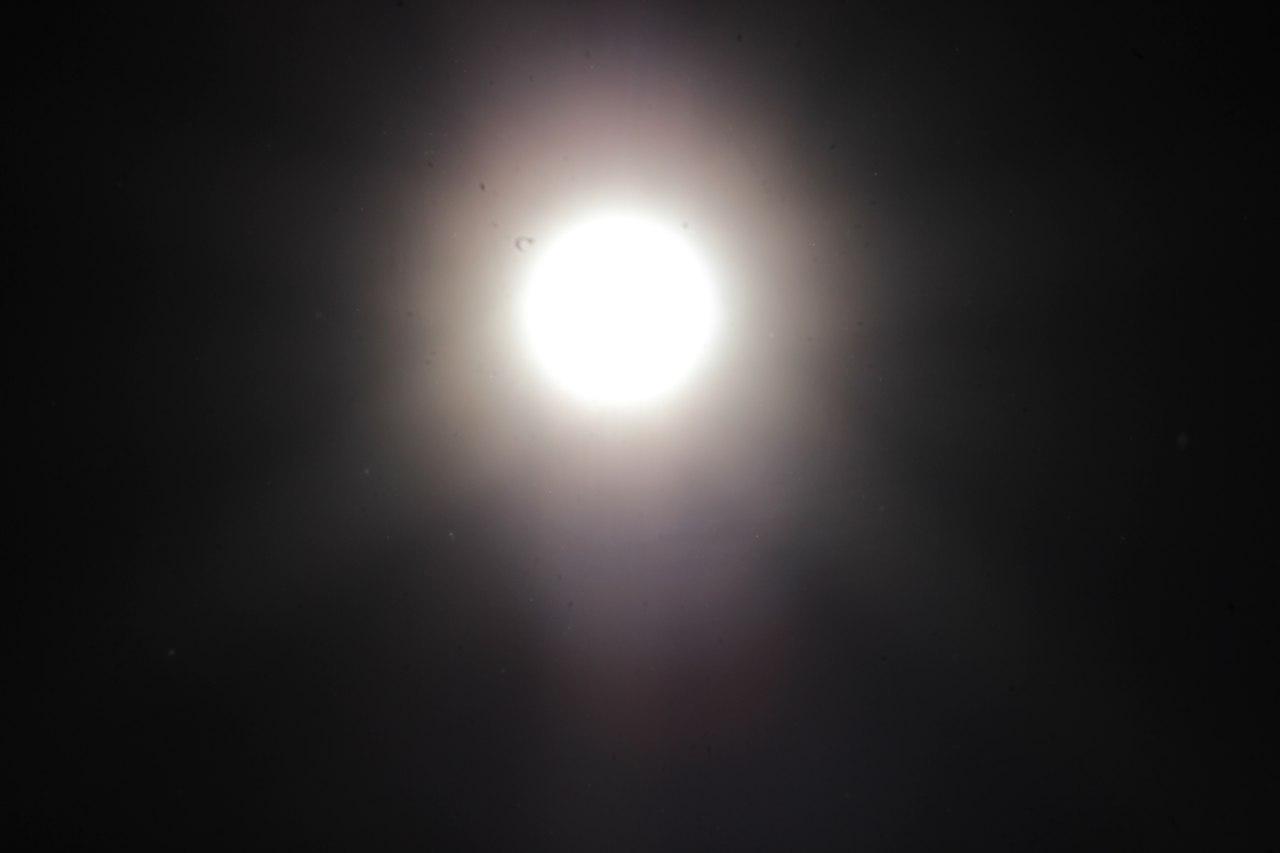 300mm, f/45, 1/4000 sec, Солнце в 9:25 утра без сварочного стекла