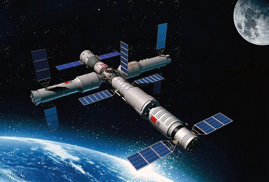 Китайская модульная космическая станция. Источник: CAST