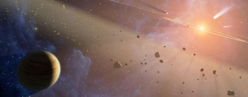 На раннем этапе Солнечная система была наполнена кометами, астероидами и небольшими сгустками материи, которые сталкивались со всем, что попадалось им на пути. Именно в течение этого периода, известного как последняя метеоритная бомбардировка, во внутренних мирах Солнечной системы могла образоваться большая часть воды, в том числе на Земле