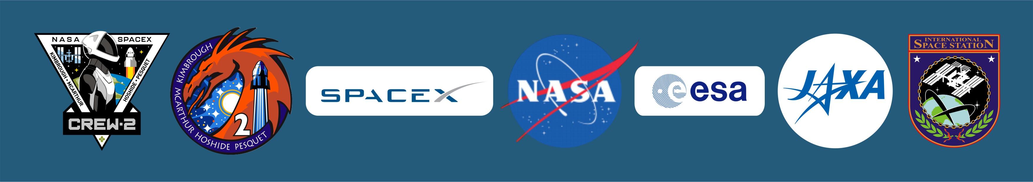 Эмблемы и нашивки миссии Falcon 9 / Crew-2