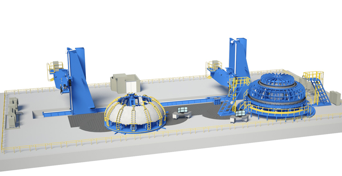 Оборудование для сварки трением с перемешиванием компонентов лунной программы США (для понимания масштаба - в центре рабочий стол с шестью мониторами). Иллюстрация. NASA