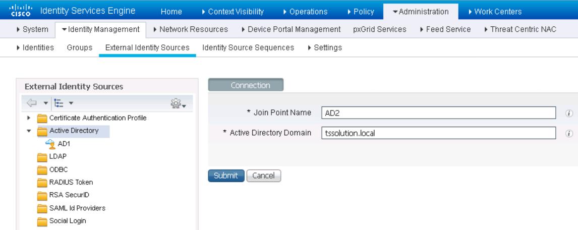 Рисунок 11. Добавление сервера Active Directory