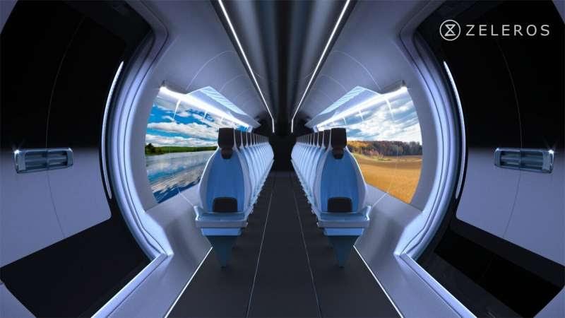 Мы должны убрать воздушное сопротивление в туннеле, чтобы локомотив двигался вперед. Поэтому мы используем так называемый линейный двигатель (компрессор, приводящий поезд в движение за счет прогона воздуха через вагон). Источник картинки: Zeleros