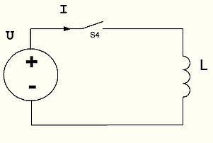 рис 13.  Подключение катушки индуктивности к генератору напряжения.