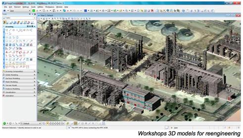 3D-модель промышленного объекта, созданная по результатам сканирования при помощи нейросети. Объем модели нереально огромен: 12 млрд точек. С помощью модели намного проще проектировать ремонт и реконструкцию