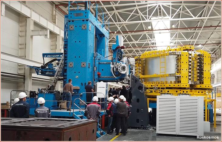 Испытания сварочного оборудования для ракеты Союз-5 в ЗАО